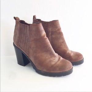 Sam & Libby | Deanna Brown Chunky Heel Ankle Boots